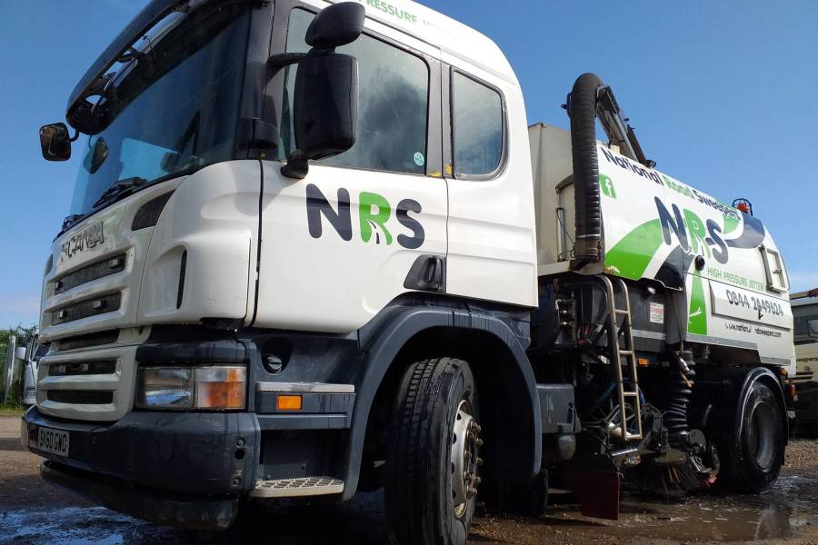 SCANIA P JOHNSTON VT650 for hire from National Road Sweepers